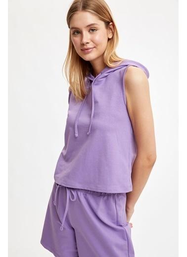 Defacto –Fit Pijama Üst Mor